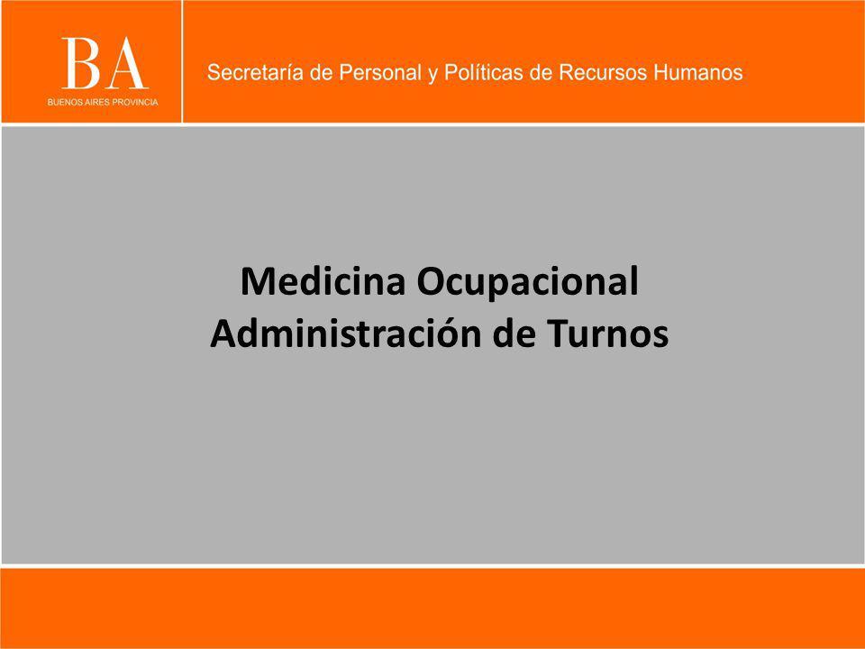 Medicina Ocupacional Administración de Turnos