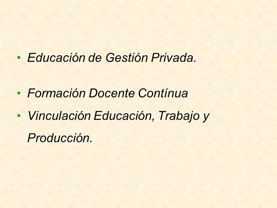 Educación de Gestión Privada.