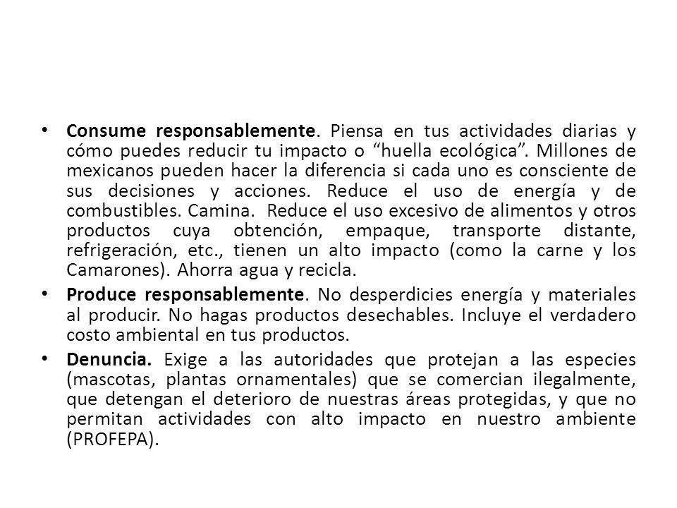 Consume responsablemente.
