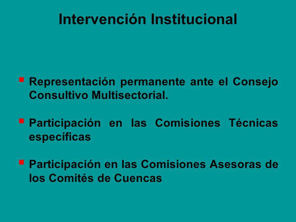 Intervención Institucional Representación permanente ante el Consejo Consultivo Multisectorial.