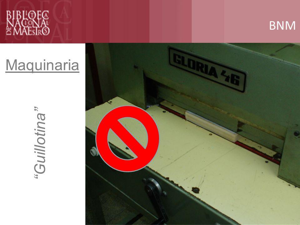 BNM Maquinaria Guillotina