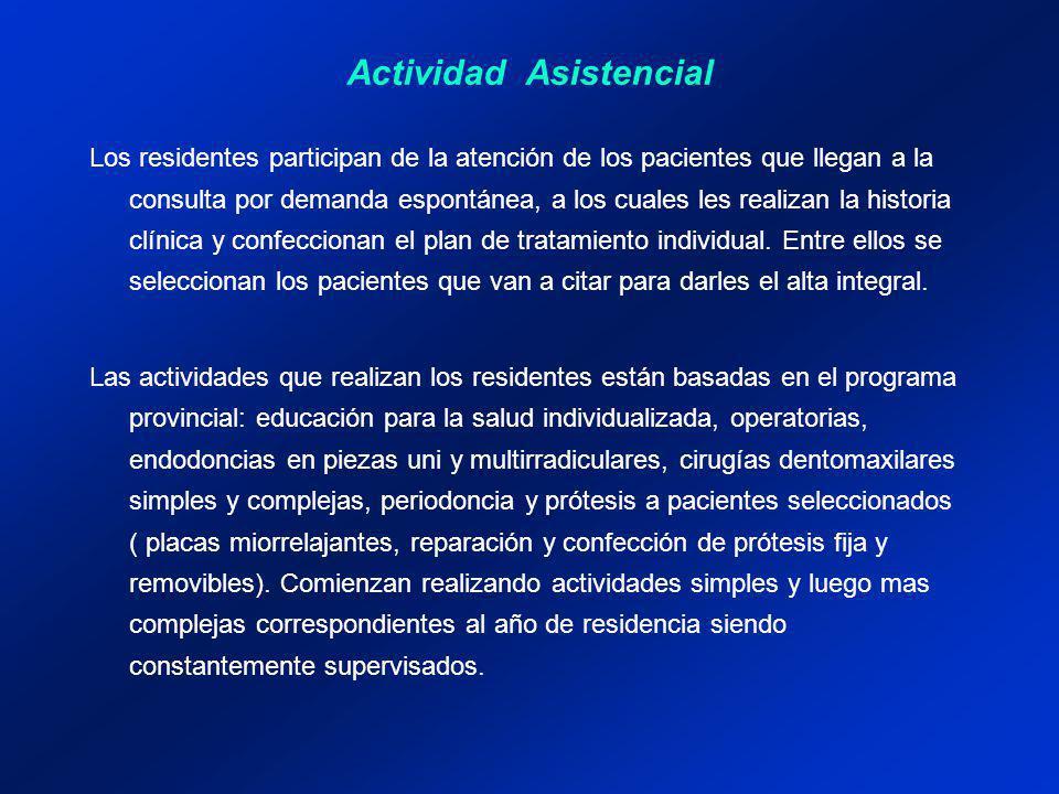 Los residentes participan de la atención de los pacientes que llegan a la consulta por demanda espontánea, a los cuales les realizan la historia clíni