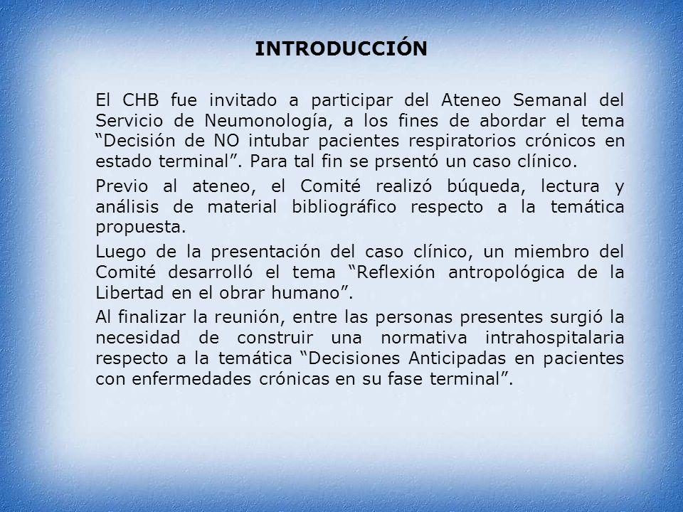 CASO CLÍNICO Paciente, sexo masculino, 73 años, EPOC IV con O2, VNI, derivado a esta institución hace 2 años, con una expectativa de vida de 6 meses.