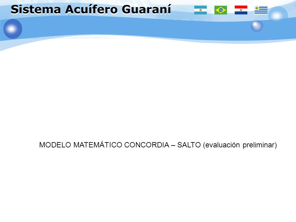 MODELO MATEMÁTICO CONCORDIA – SALTO (evaluación preliminar)