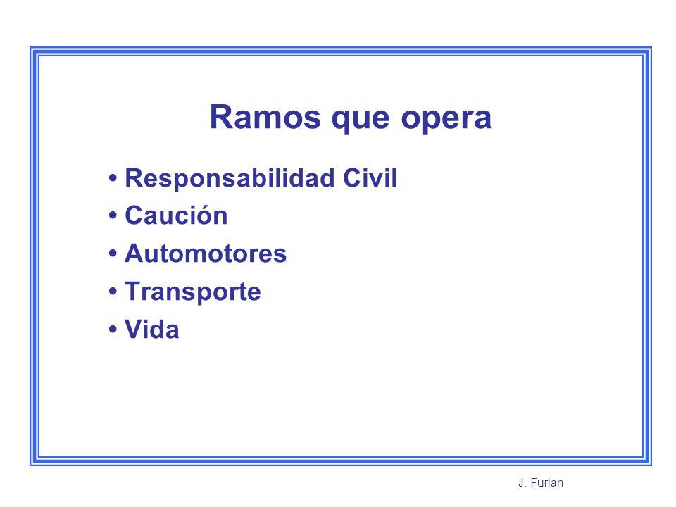 Ramos que opera Responsabilidad Civil Caución Automotores Transporte Vida J. Furlan