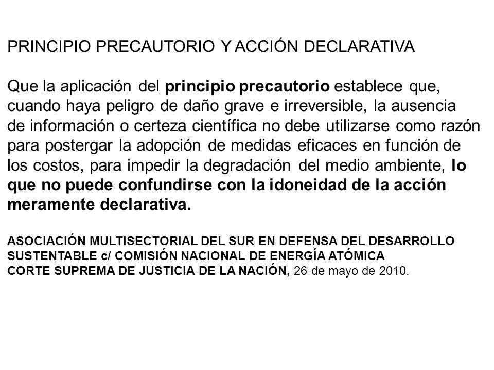 PROCESOS URGENTES AUTÓNOMOS Y DEFINITIVOS Cuando se peticiona la protección del ambiente basada en el PRINCIPIO DE PREVENCIÓN O DE PRECAUCIÓN, NO SE TRATA DE UNA MEDIDA CAUTELAR, sino de un PROCESO URGENTE AUTÓNOMO Y DEFINITIVO.