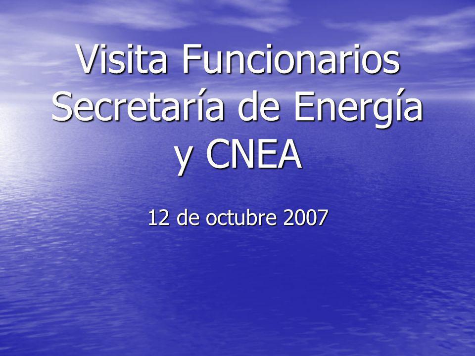 Visita Funcionarios Secretaría de Energía y CNEA 12 de octubre 2007