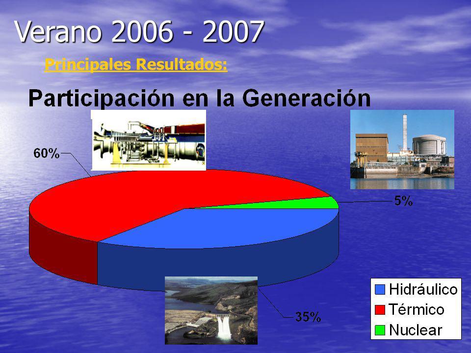 Principales Resultados: Verano 2006 - 2007