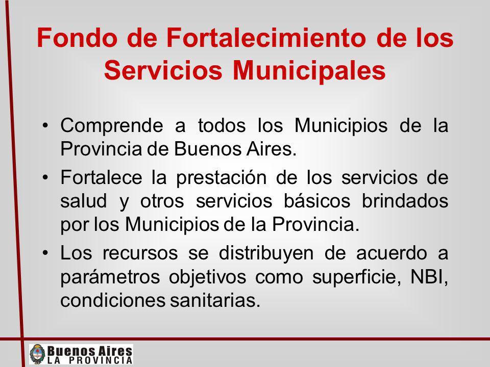 El sostenimiento del salario de los empleados públicos provinciales El fortalecimiento de las finanzas municipales El Proyecto consolida