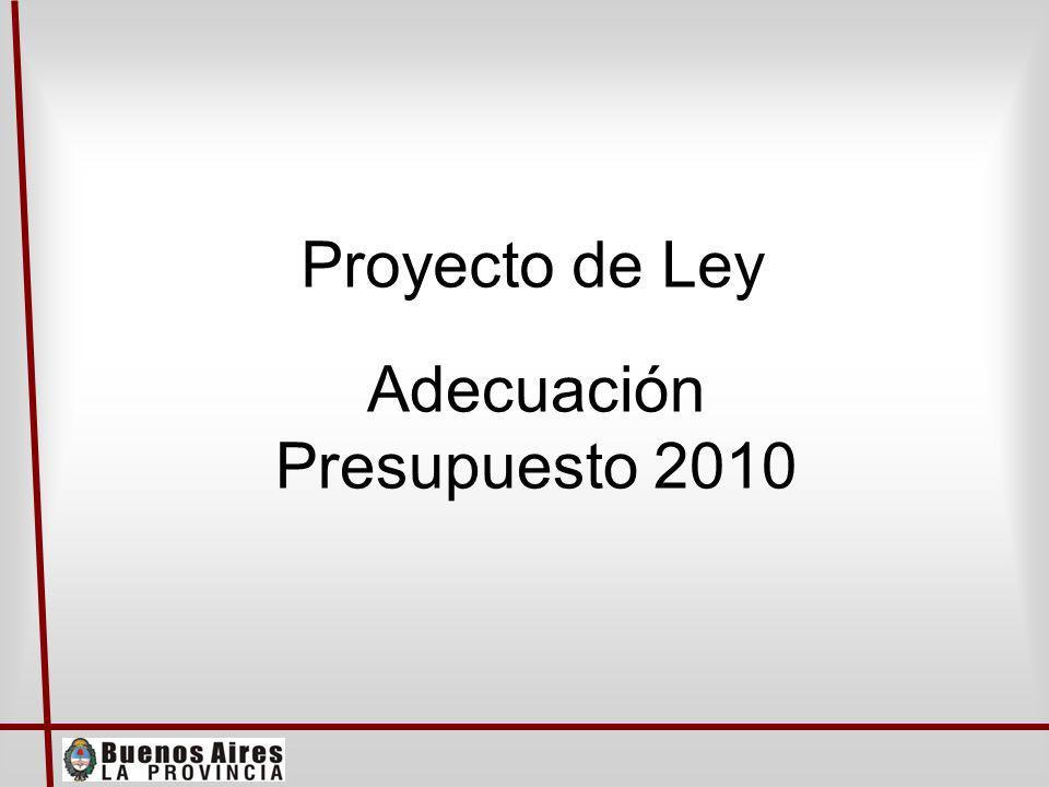 Proyecto de Ley Adecuación Presupuesto 2010