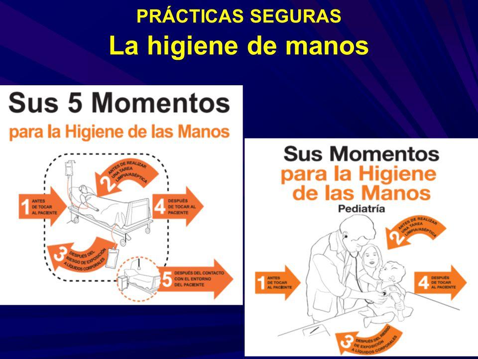 PRÁCTICAS SEGURAS La higiene de manos