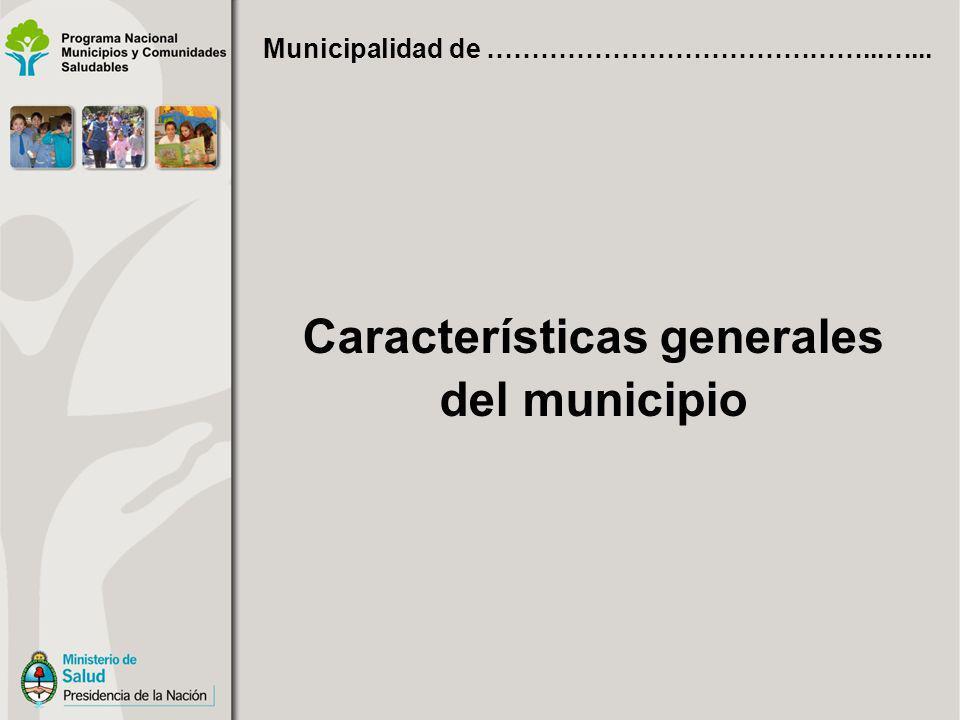Fecha de creación del municipio Fecha de sanción de Carta Orgánica Municipal Existencia de Plan Estratégico Municipal Municipalidad de ……………………………………...…...