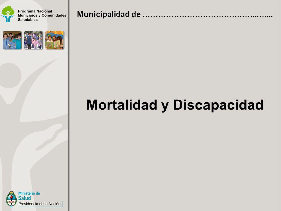 Mortalidad y Discapacidad Municipalidad de ……………………………………...…...