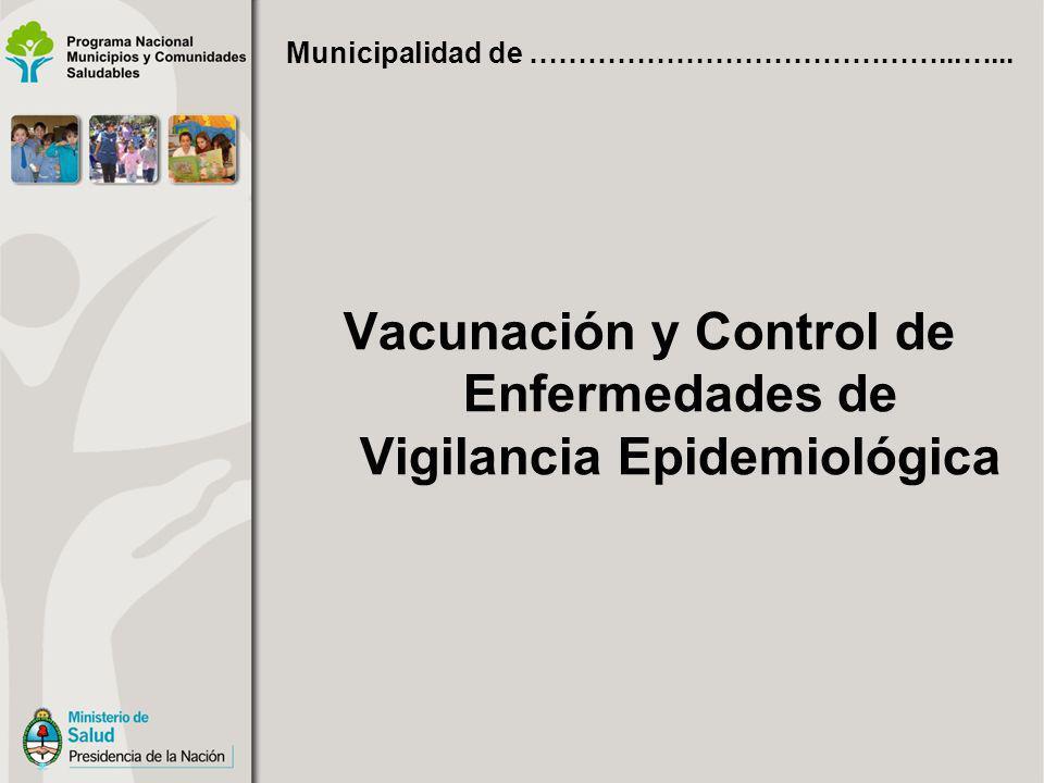 Vacunación y Control de Enfermedades de Vigilancia Epidemiológica Municipalidad de ……………………………………...…...