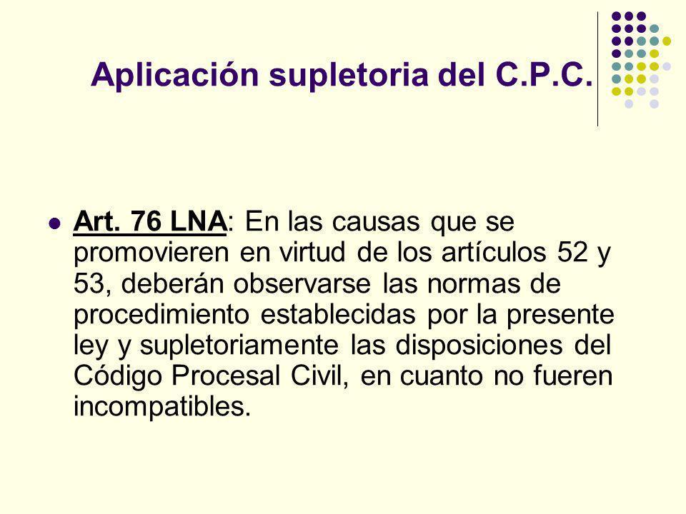 Aplicación supletoria del C.P.C.Art.