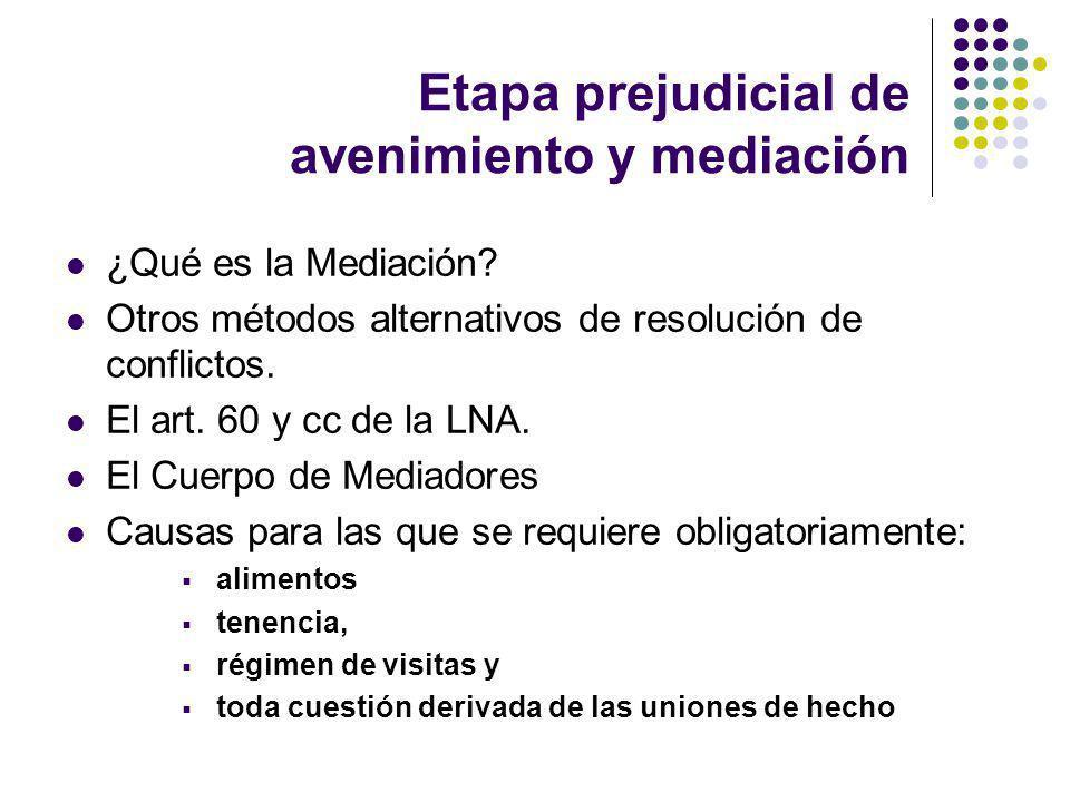 Etapa prejudicial de avenimiento y mediación ¿Qué es la Mediación.