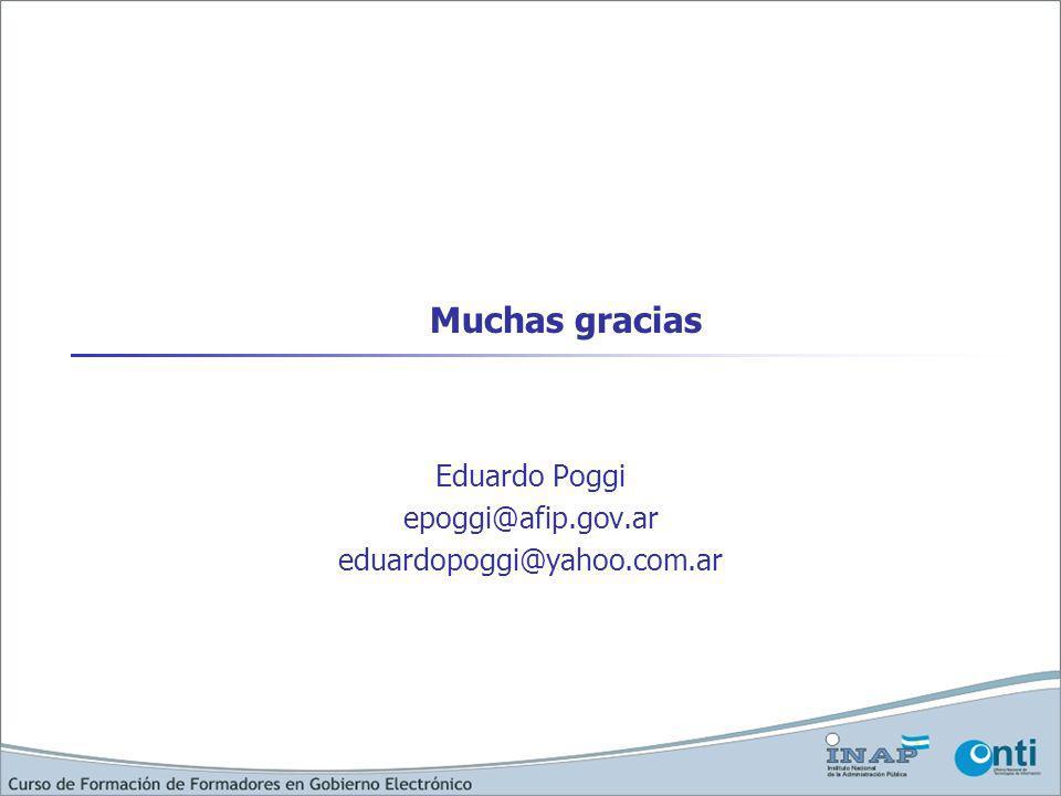 Muchas gracias Eduardo Poggi epoggi@afip.gov.ar eduardopoggi@yahoo.com.ar