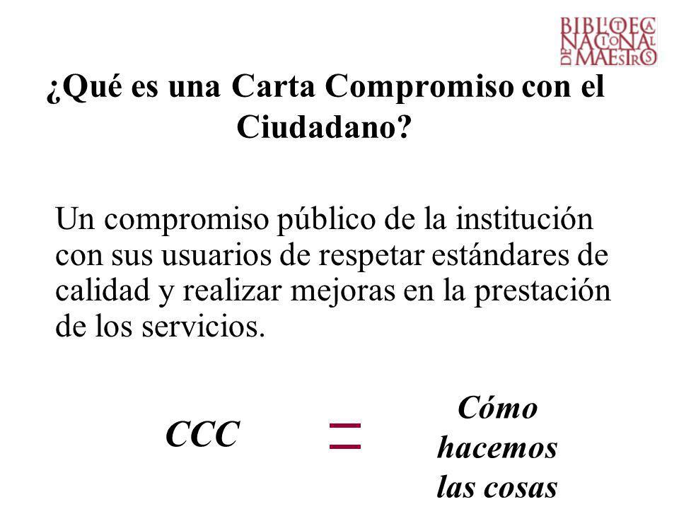 ¿Qué es una Carta Compromiso con el Ciudadano.