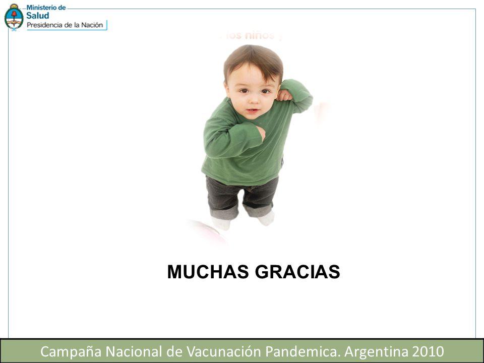 Campaña Nacional de Vacunación Pandemica. Argentina 2010 MUCHAS GRACIAS