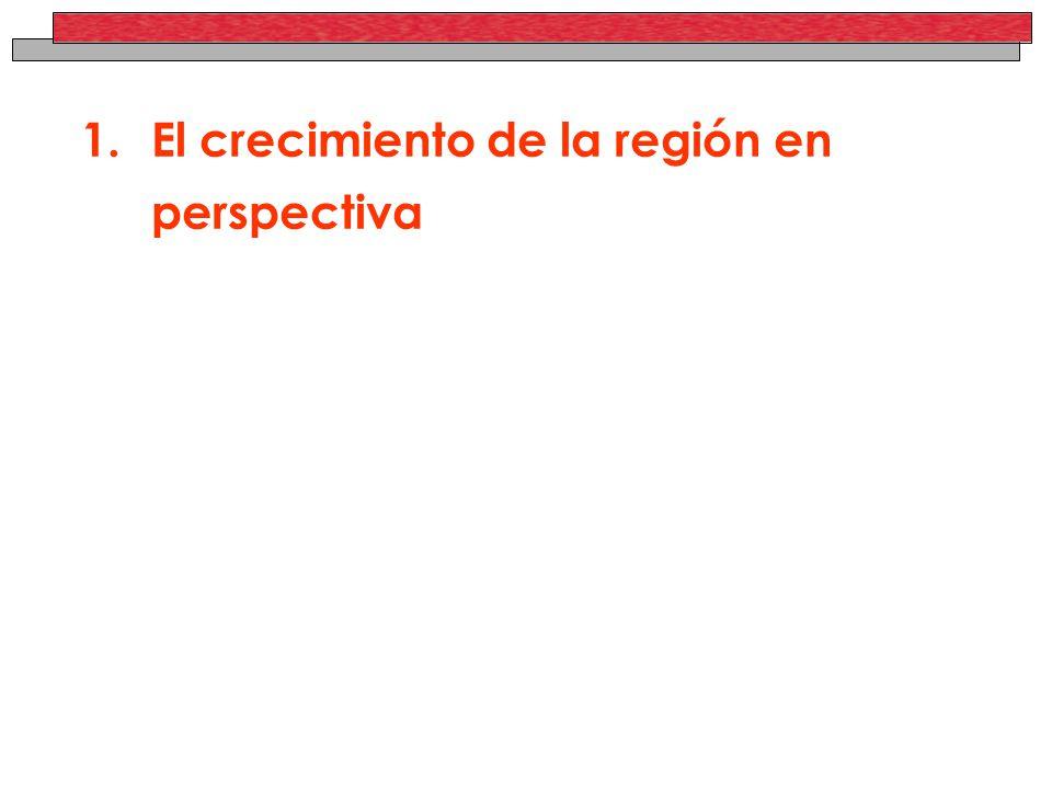 1.El crecimiento de la región en perspectiva