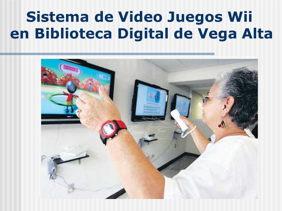 Sistema de Video Juegos Wii en Biblioteca Digital de Vega Alta