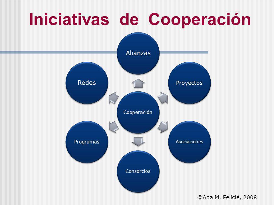 Iniciativas de Cooperación Cooperación Alianzas Proyectos Asociaciones ConsorciosProgramas Redes ©Ada M. Felicié, 2008