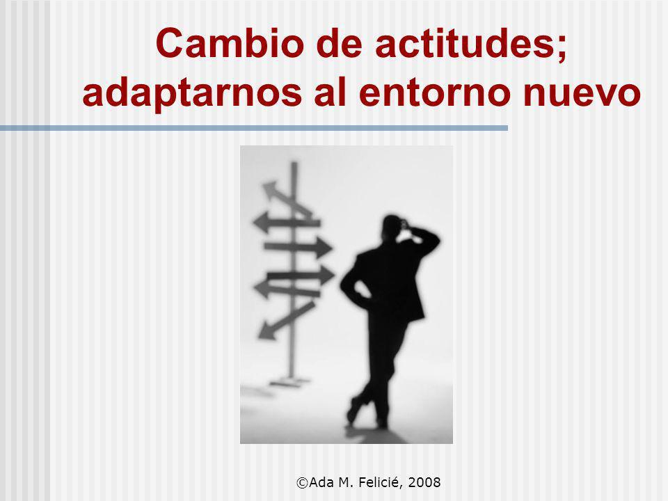 Cambio de actitudes; adaptarnos al entorno nuevo ©Ada M. Felicié, 2008