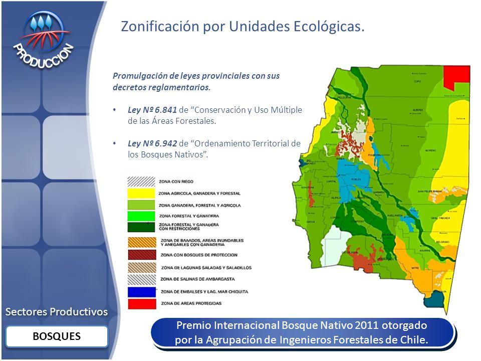 Sectores Productivos BOSQUES Zonificación por Unidades Ecológicas.