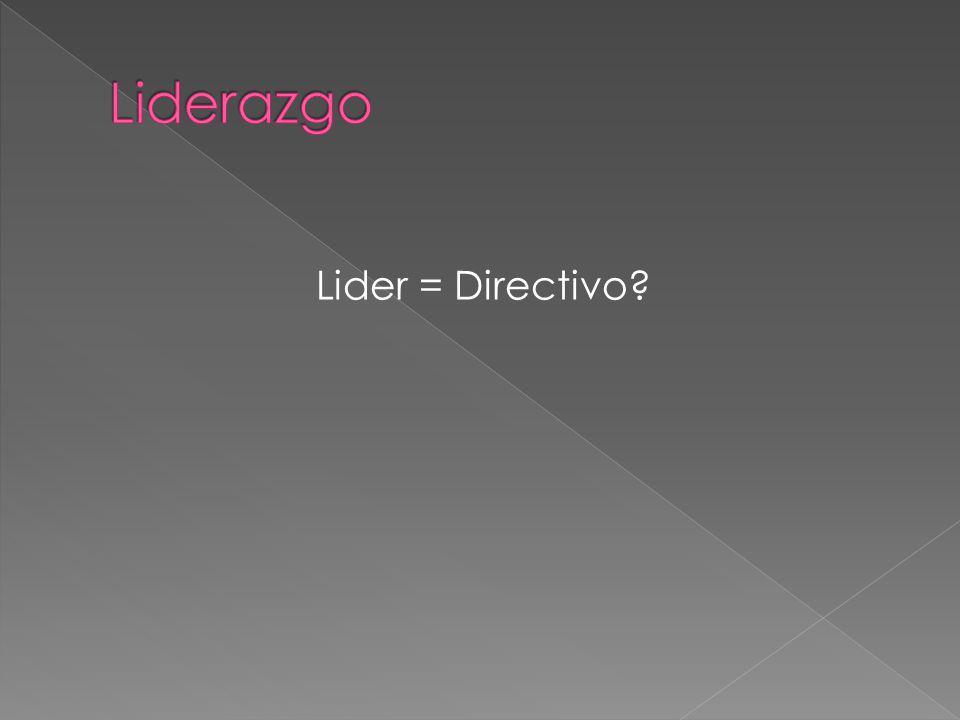 Lider = Directivo?