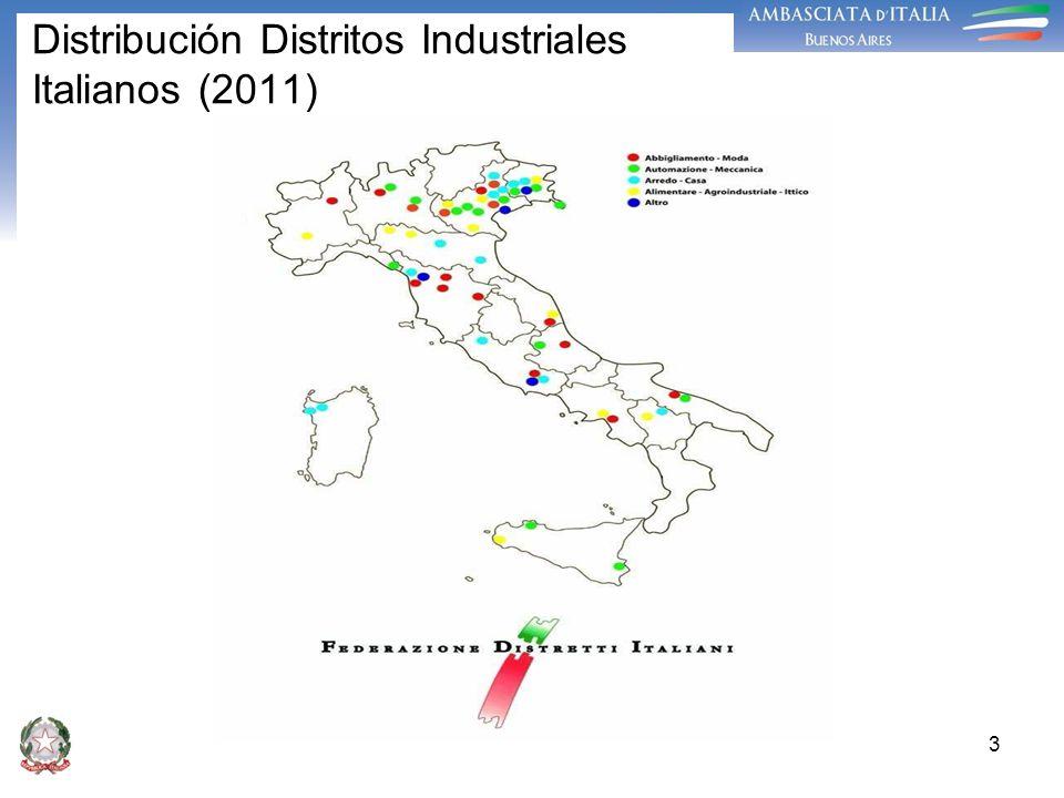 3 Distribución Distritos Industriales Italianos (2011)