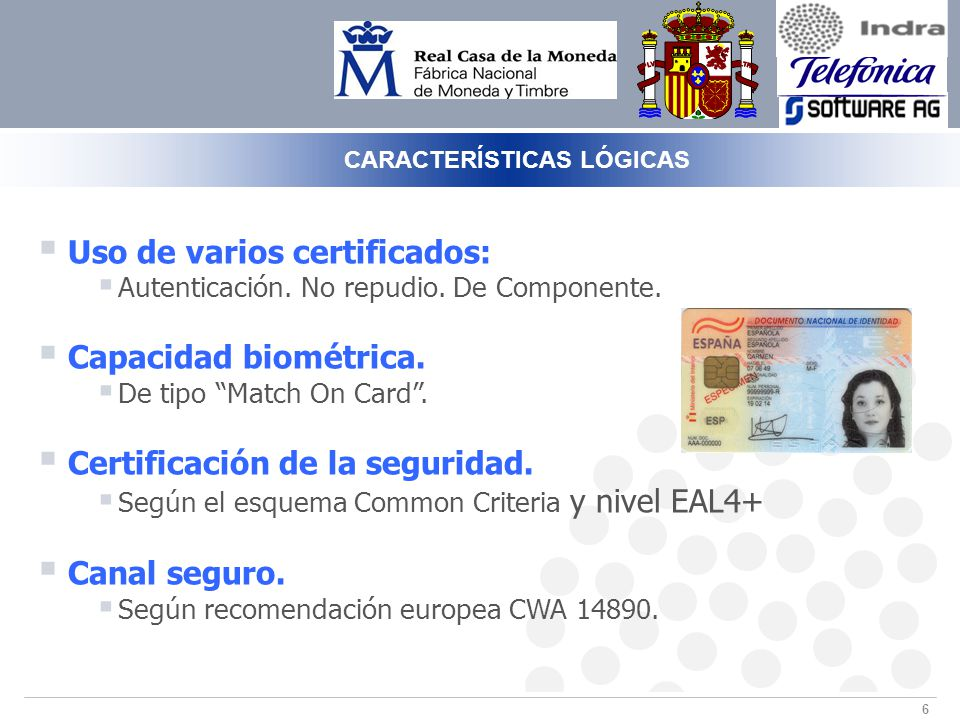 6 Uso de varios certificados: Autenticación.No repudio.