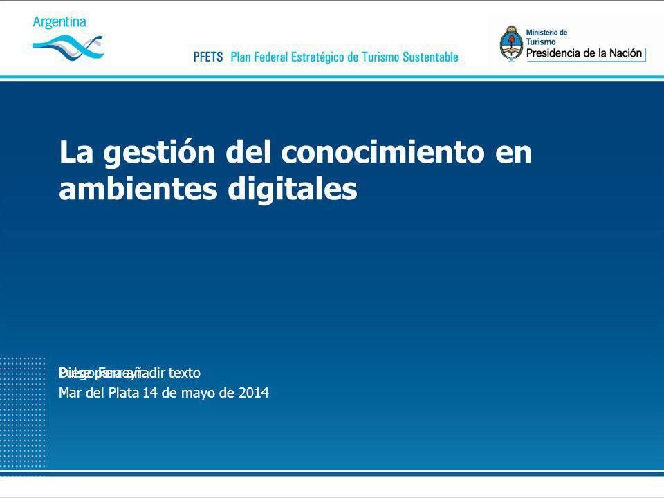 Pulse para añadir textoDiego Ferreyra Mar del Plata 14 de mayo de 2014 La gestión del conocimiento en ambientes digitales