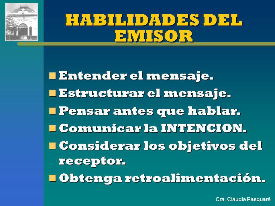 Cra. Claudia PasquaréBIDIMENSIONALBIDIMENSIONAL CONSENSO / DISENSO PENSAR Nivel Racional/ Explícito - Consciente El QUE del mensaje CONTENIDO PRECISO