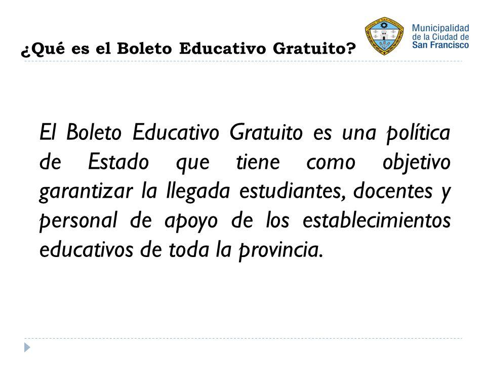 ¿Qué es el Boleto Educativo Gratuito.