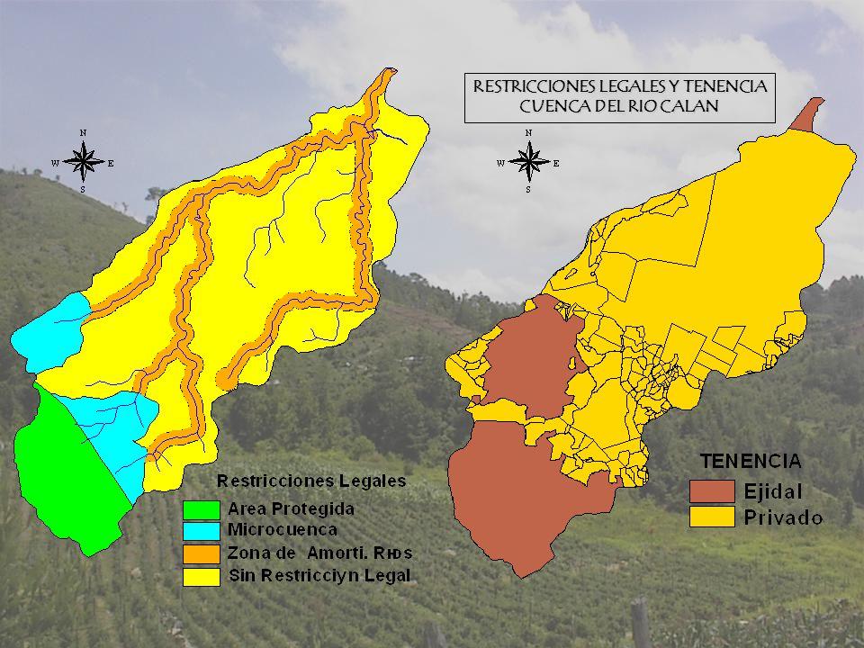 RESTRICCIONES LEGALES Y TENENCIA CUENCA DEL RIO CALAN