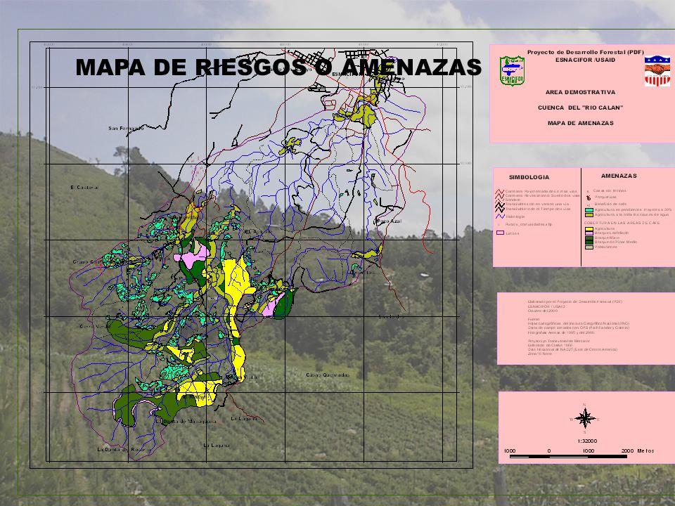 MAPA DE RIESGOS O AMENAZAS