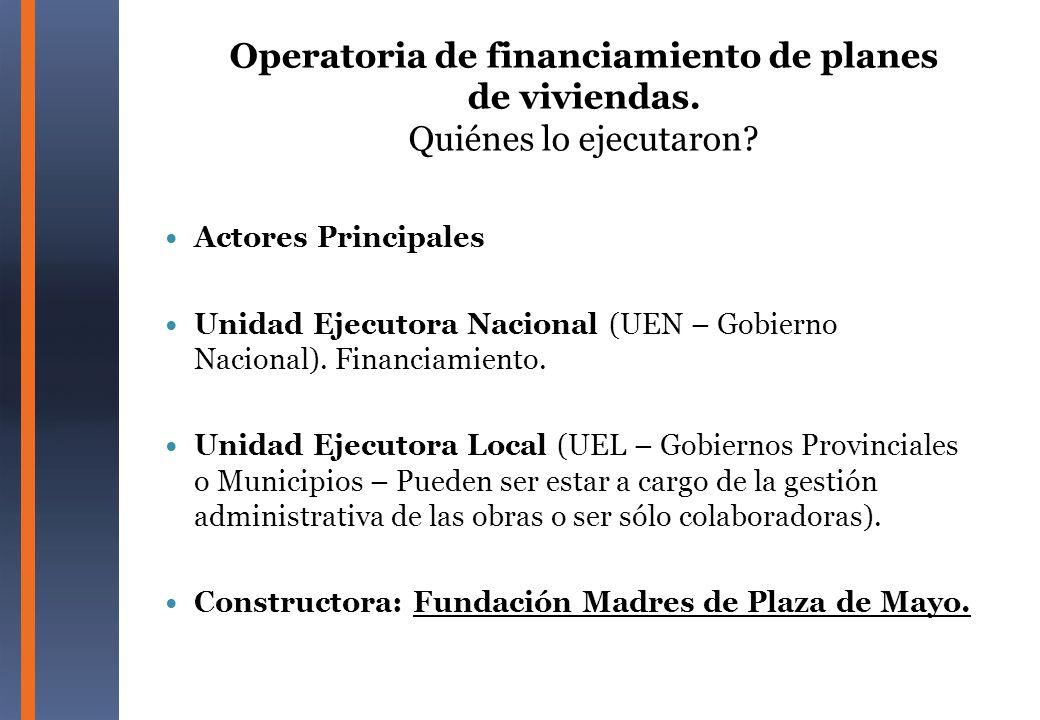 Contratación Directa de la Fundación Madres de Plaza de Mayo para la construcción de viviendas Facilitó la elusión de las Normas Nacionales y Provinciales que restringen la discrecionalidad en el manejo de fondos públicos.