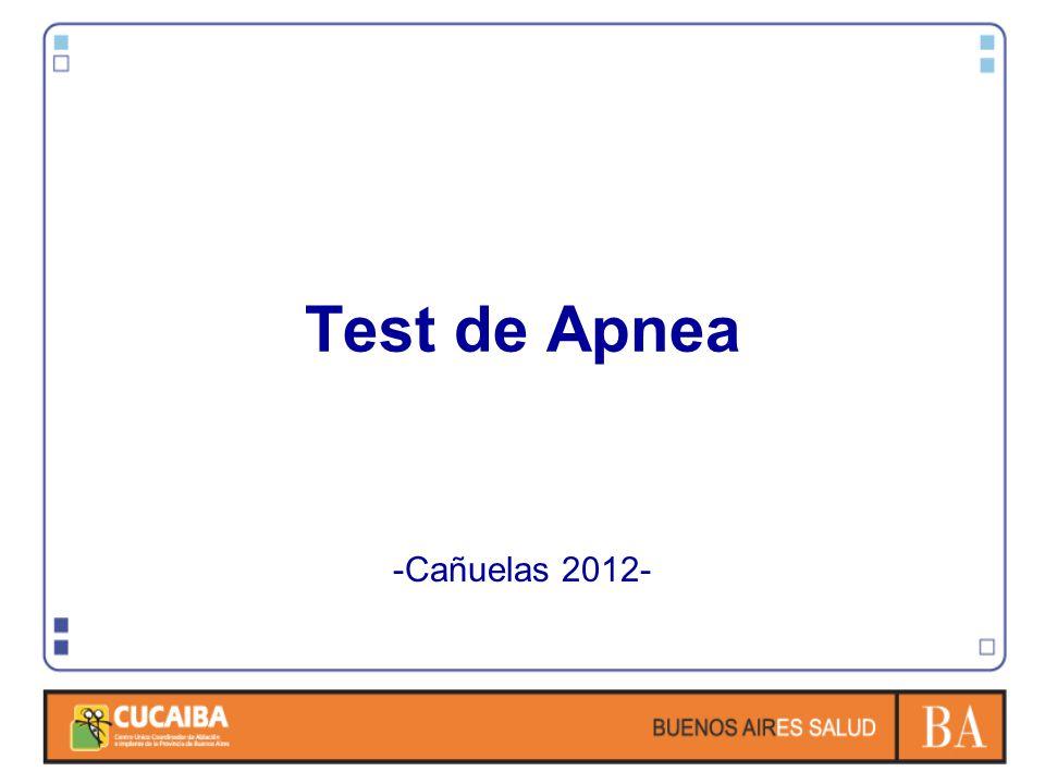 Test de Apnea -Cañuelas 2012-