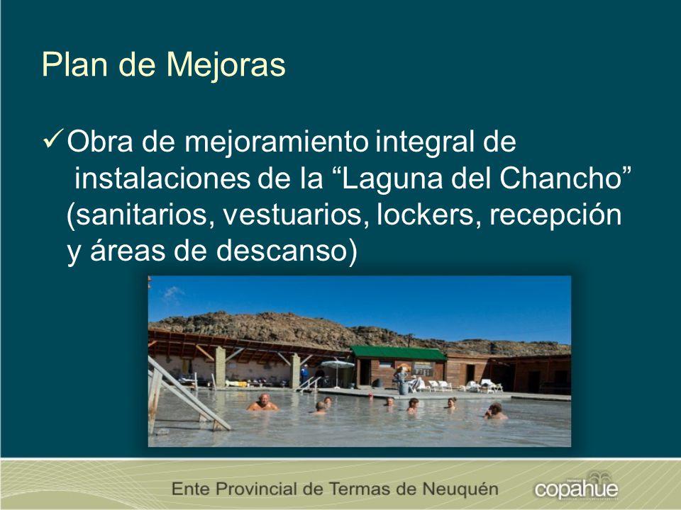 Plan de Mejoras Obra de mejoramiento integral de instalaciones de la Laguna del Chancho (sanitarios, vestuarios, lockers, recepción y áreas de descanso)