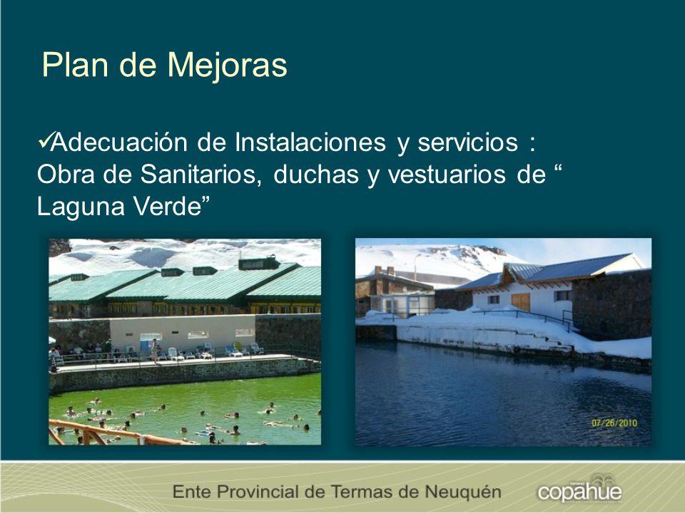 Plan de Mejoras Adecuación de Instalaciones y servicios : Obra de Sanitarios, duchas y vestuarios de Laguna Verde