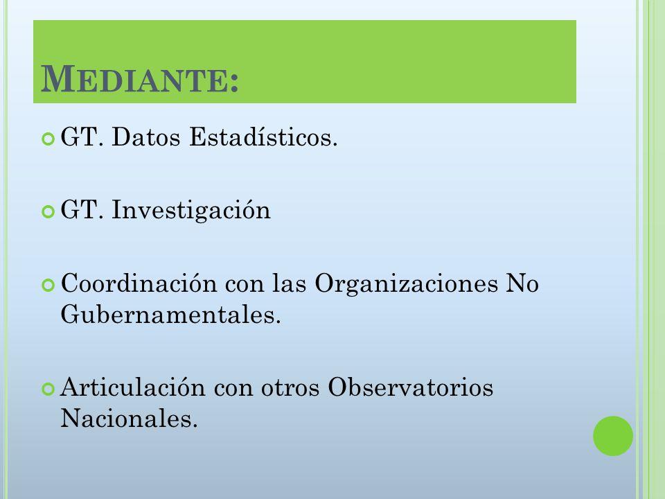 M EDIANTE : GT. Datos Estadísticos. GT.