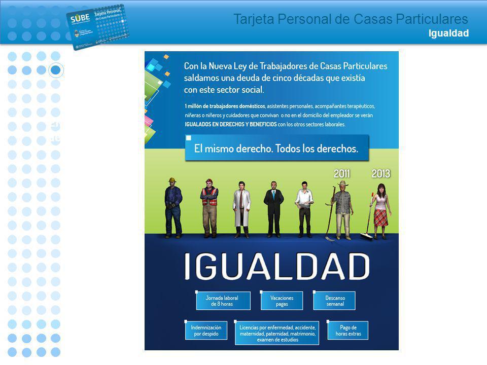 Tarjeta Personal de Casas Particulares Igualdad Entrega de tarjetas