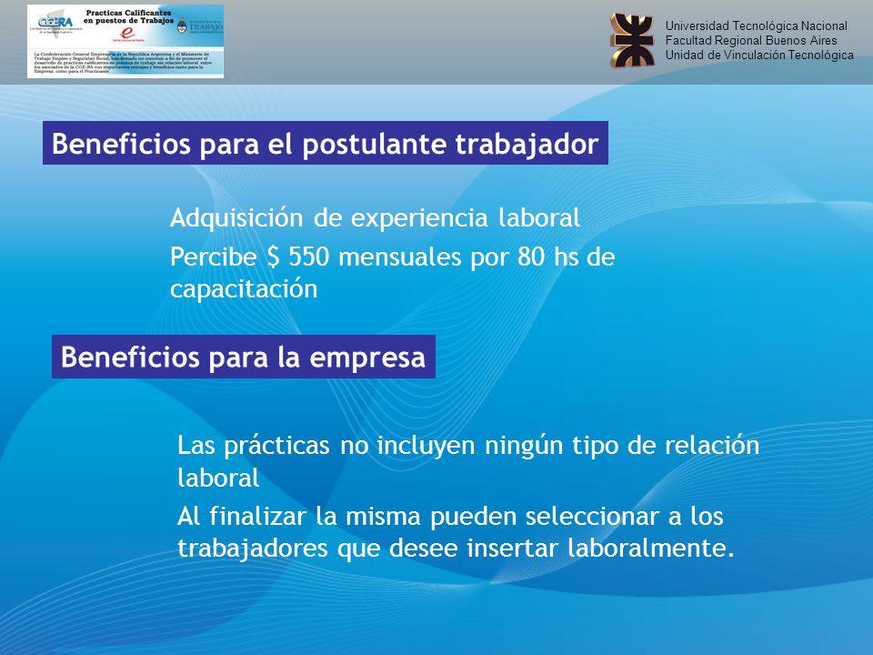Universidad Tecnológica Nacional Facultad Regional Buenos Aires Unidad de Vinculación Tecnológica Consultas e informes: Dr.