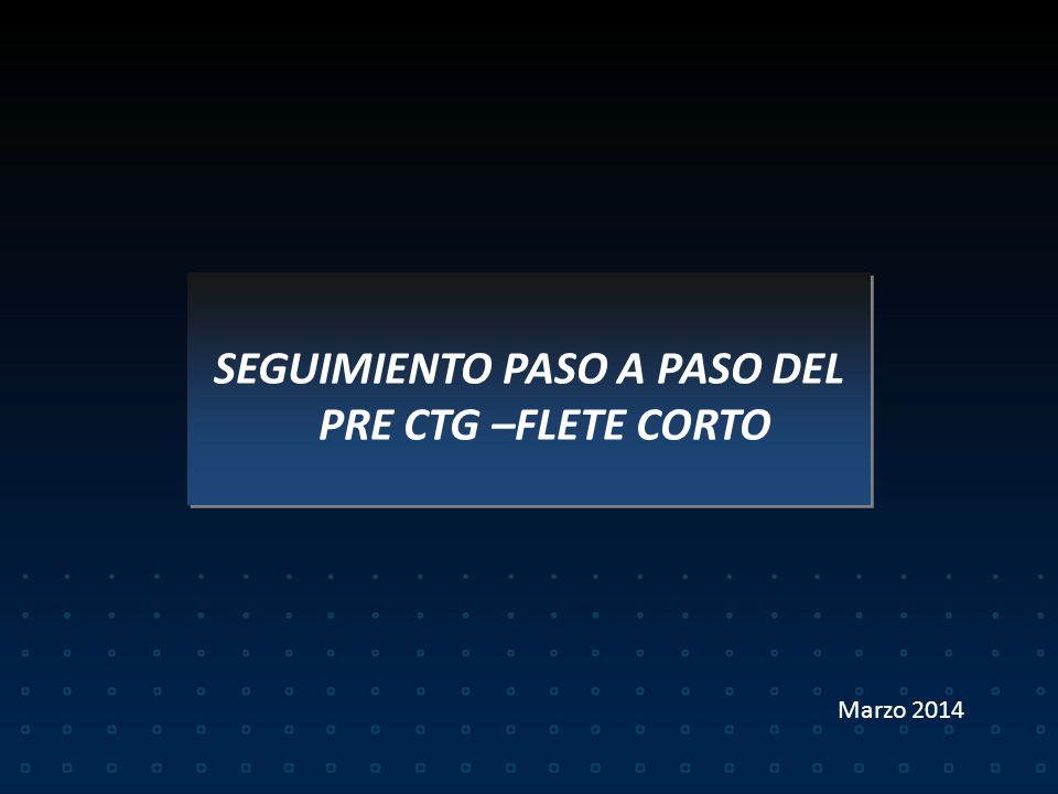 CODIGO DE TRAZABILIDAD DE GRANOS – FLETE CORTO RG 3593/14 Vigencia 01/04/2014 CODIGO DE TRAZABILIDAD DE GRANOS – FLETE CORTO RG 3593/14 Vigencia 01/04