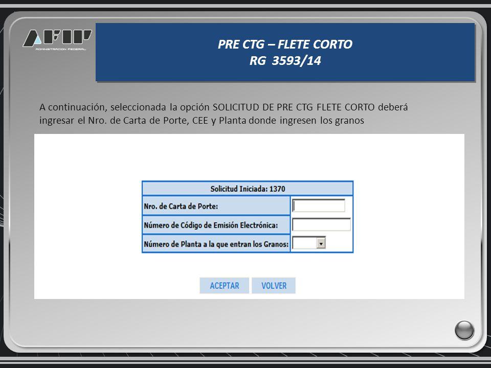 De resultar válida la CUIT indicada, se abrirá la siguiente pantalla: REGIMEN DE REGISTRACION SISTEMICA DE MOVIMIENTOS Y EXISTENCIAS DE GRANOS RG 3593
