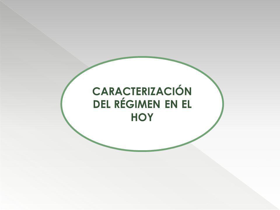 CARACTERIZACIÓN DEL RÉGIMEN EN EL HOY