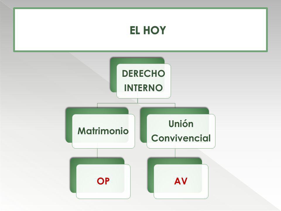 DERECHO INTERNO MatrimonioOP Unión Convivencial AV
