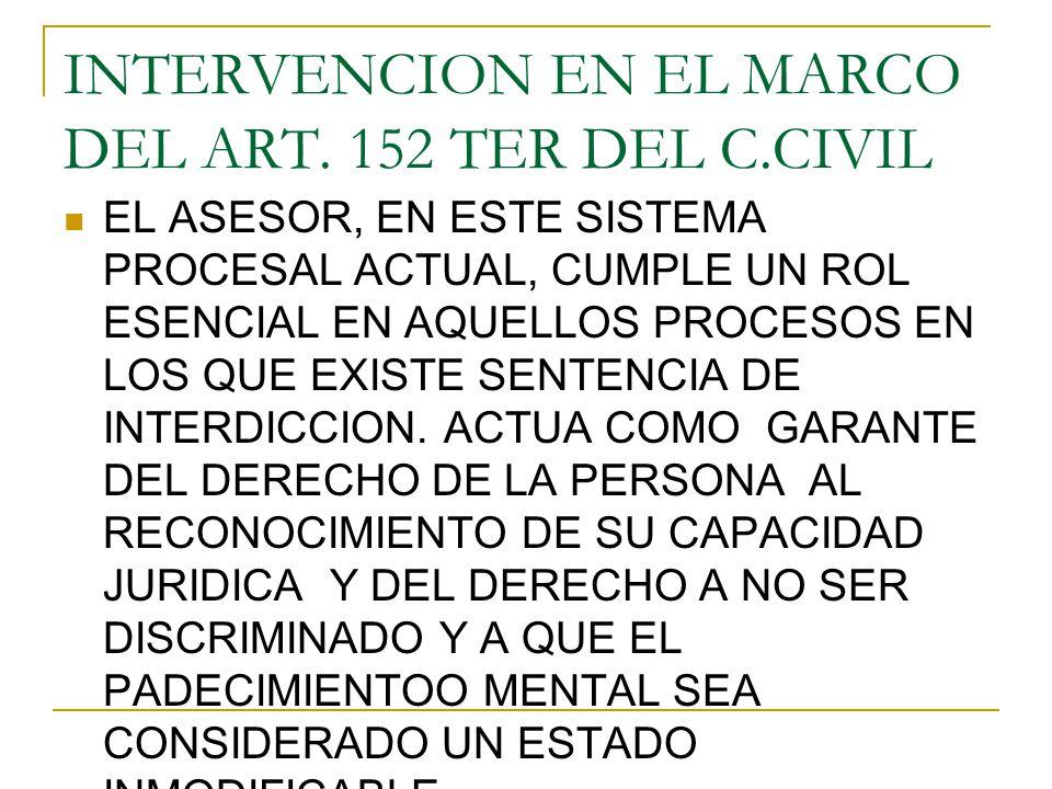 INTERVENCION EN EL MARCO DEL ART.