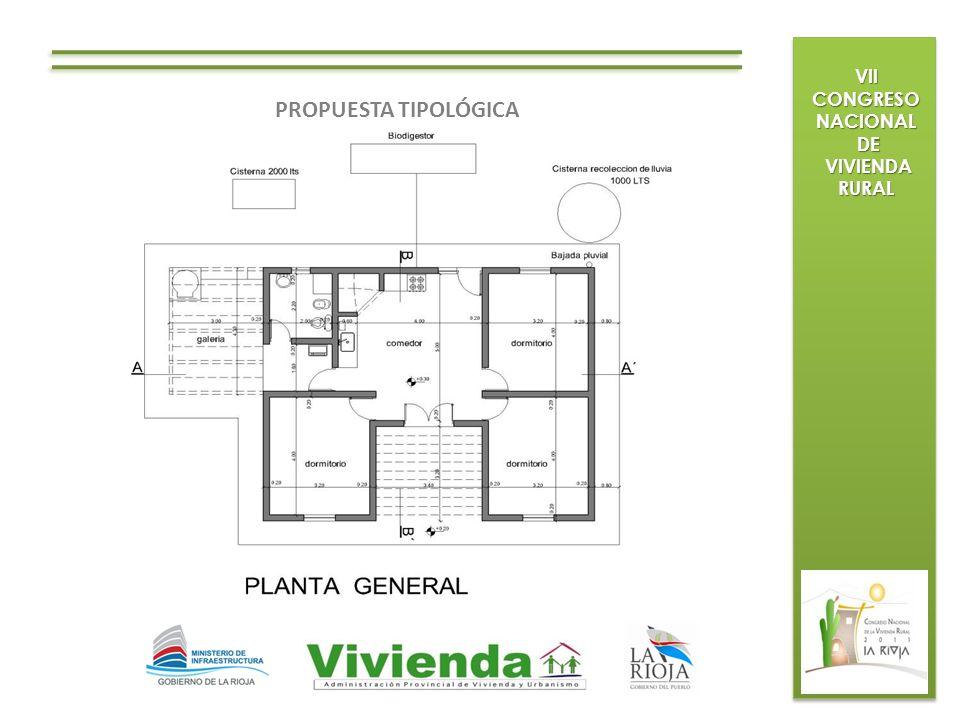 VII CONGRESO NACIONAL DE DE VIVIENDA RURAL VIVIENDA RURAL PROPUESTA TIPOLÓGICA