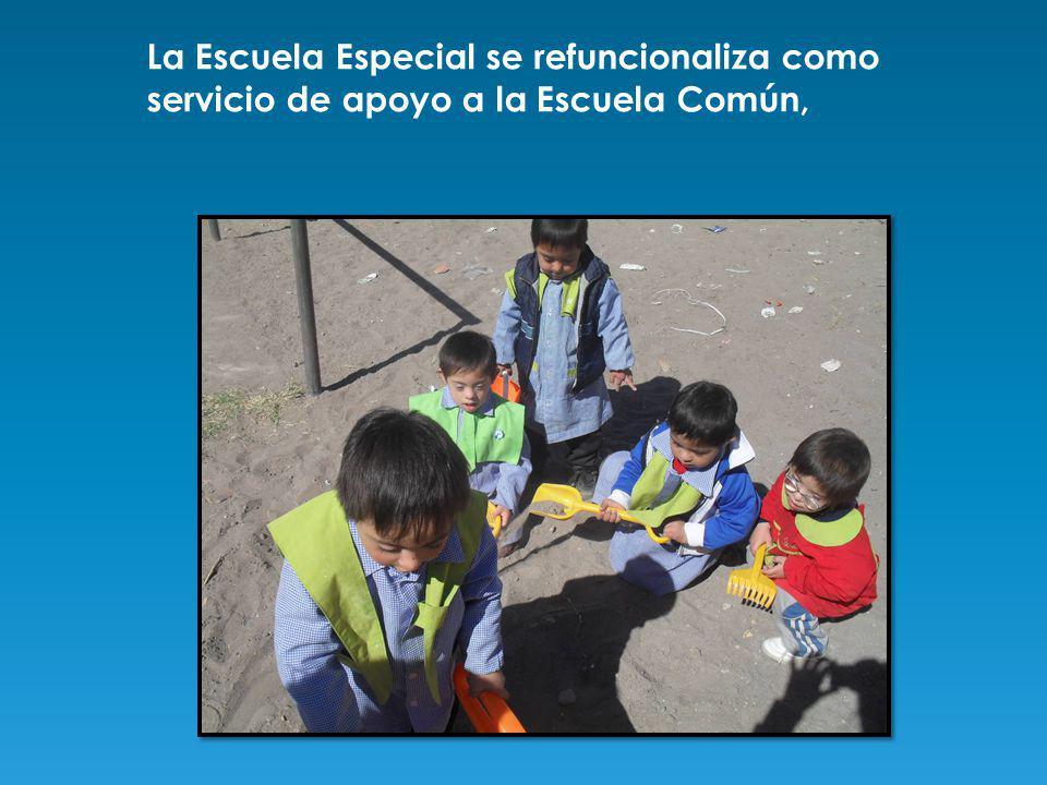 La Escuela Especial se refuncionaliza como servicio de apoyo a la Escuela Común,